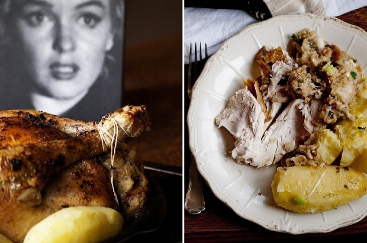 poulet, poulet à la marilyn, garniture poulet