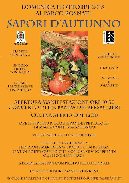 Sapori d'Autunno 11 Ottobre Appiano Gentile (CO)