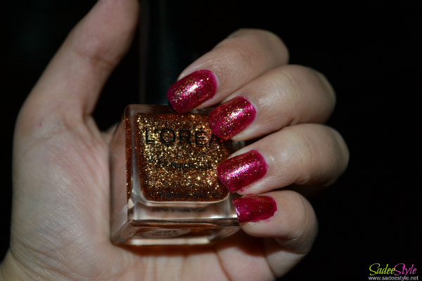 NOTD! Gold Glitters Nails with Opi Meep Meep Meep Base Nail Polish