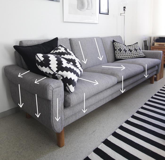 Reupholstering a sofa | Sohvan uudelleenverhoilu
