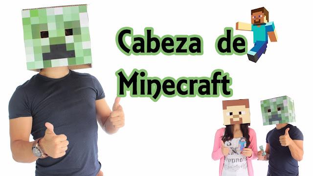 Cómo hacer la cabeza de un creeper de Minecraft, como hacer la cabeza de steve, minecraft, experimentos caseros
