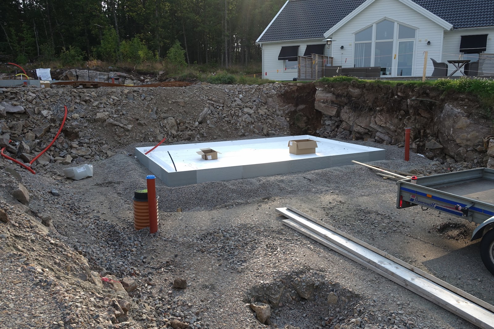 Inredning gjuta platta garage : Villa MF: Förberedelse av platta klar!