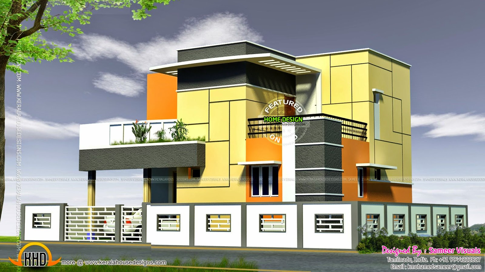 Tamilnadu house modern style kerala home design and for Tamilnadu house designs photos