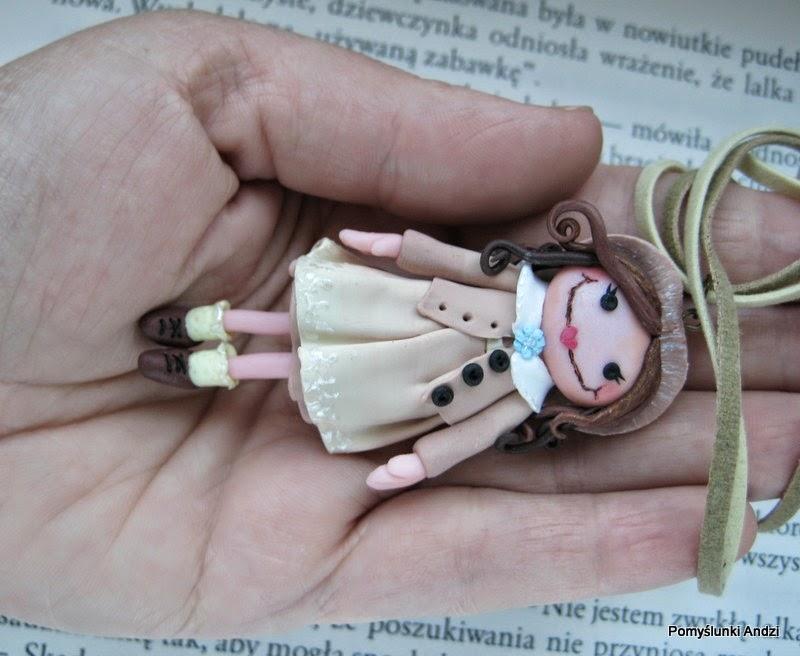 pendant, doll, tekla, lalka, krystyna śmigielska, książka,