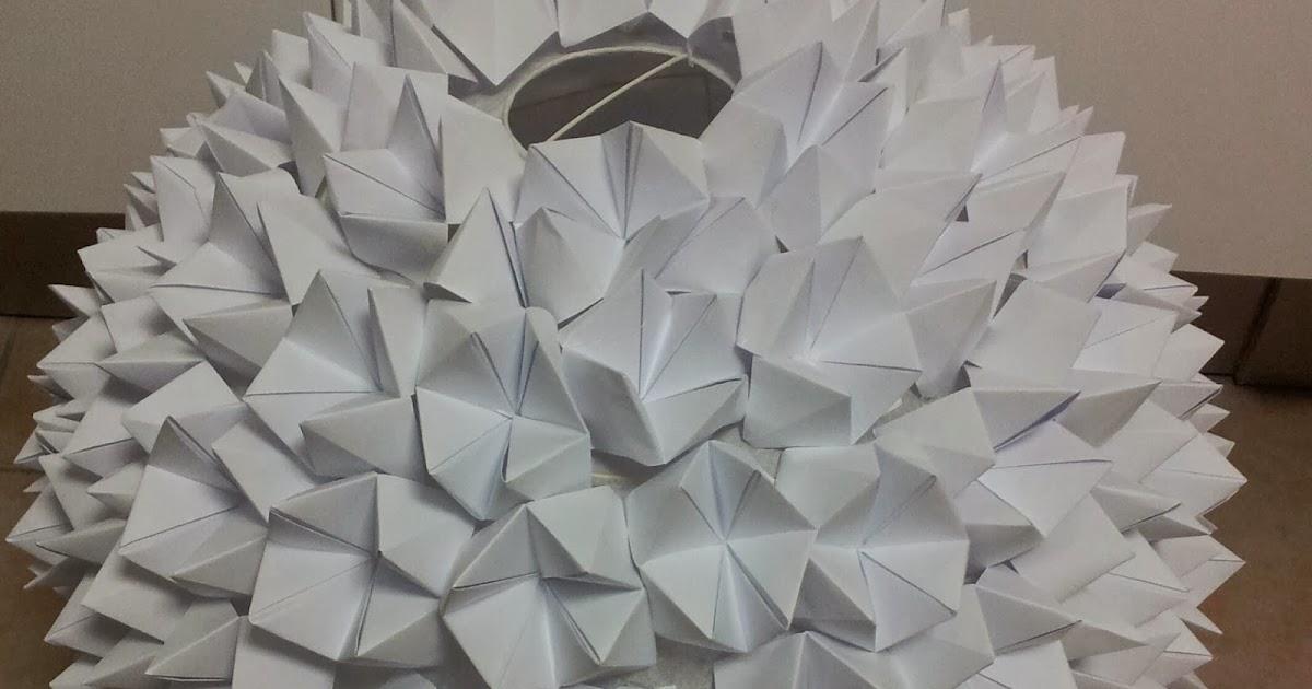 Lampada Origami Istruzioni : Lampada origami o r ora ricreazione relax style espresso