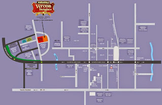 Amrapali Verona Heights :: Location Map