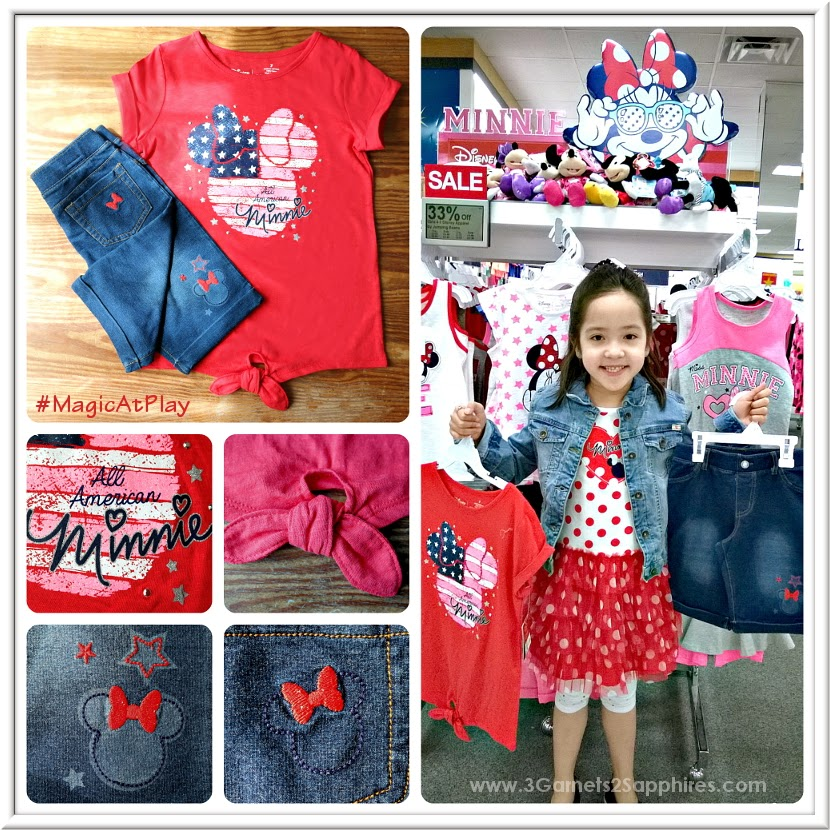 Shopping the new Kohl's Disney Jumping Beans #MagicAtPlay Americana Collection for Girls
