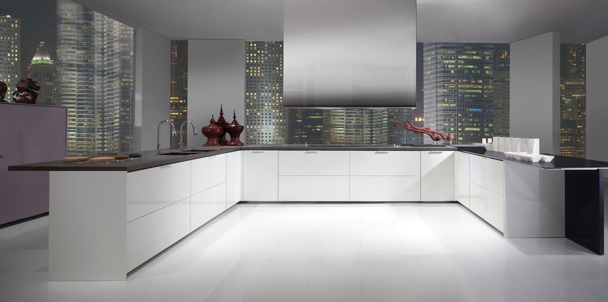 Minimalismo y modularidad cocinas con estilo - Cocinas sin muebles arriba ...