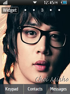 General Latest Choi Minho Samsung Corby 2 Theme Wallpaper