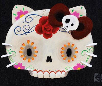 Hello Kitty Sugar Skull Wallpaper Barbie En Calavera Mexicana