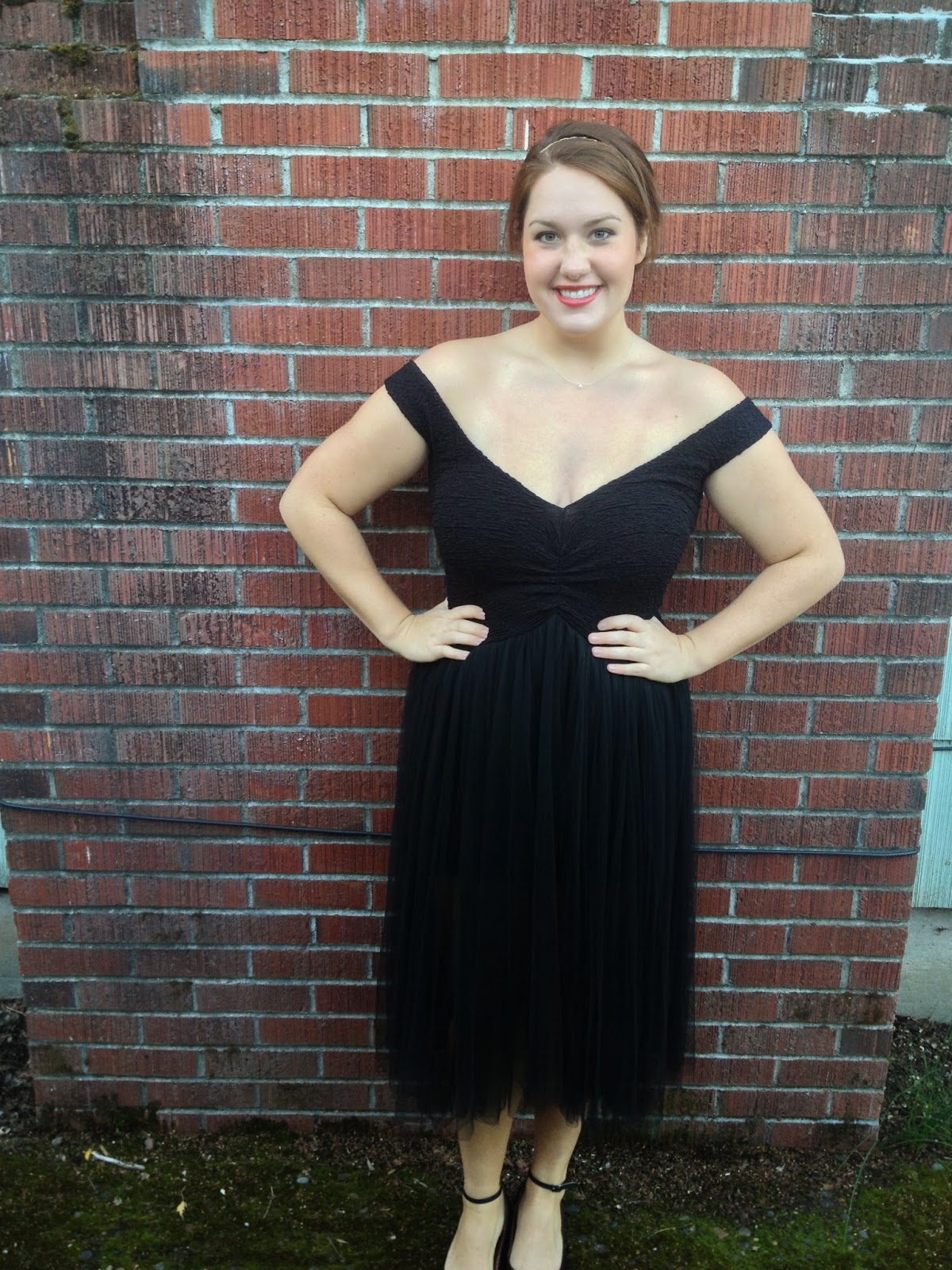 Little Black Dress with Gold Detail