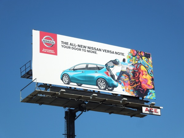 Nissan Versa Note your door to more billboard
