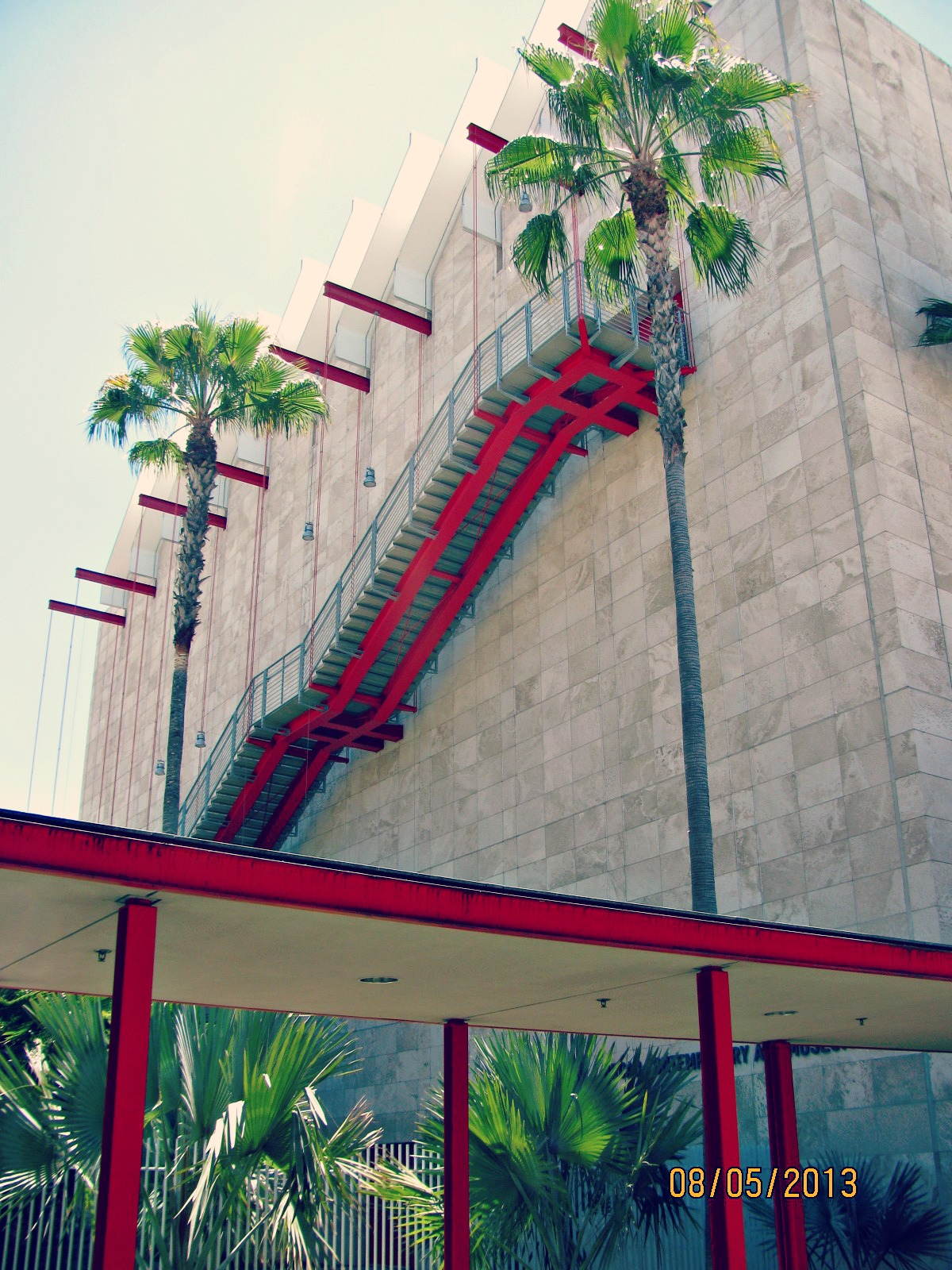 LACMA // Floating Red Staircase