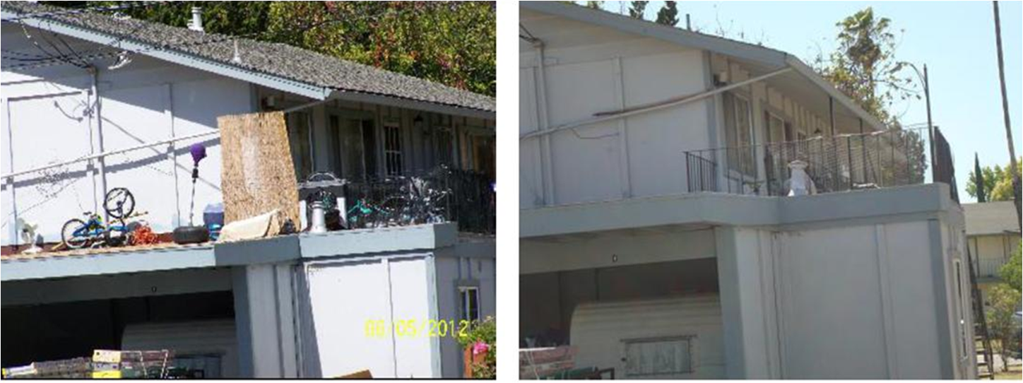 A before-and-after photo shows how this absentee-owner-intervention program was able to convince one homeowner to clean up his property.