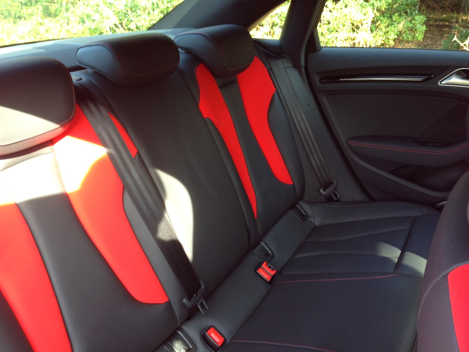 2014 Audi S3 Saloon rear seats