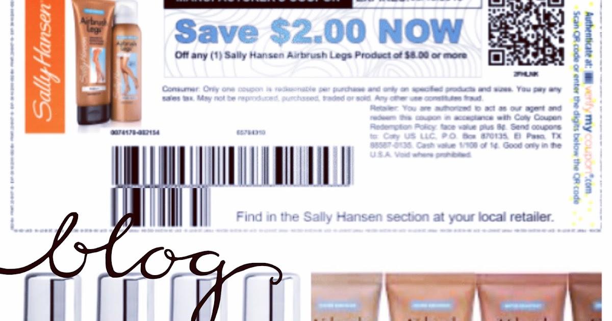 Sally hansen coupons july 2018