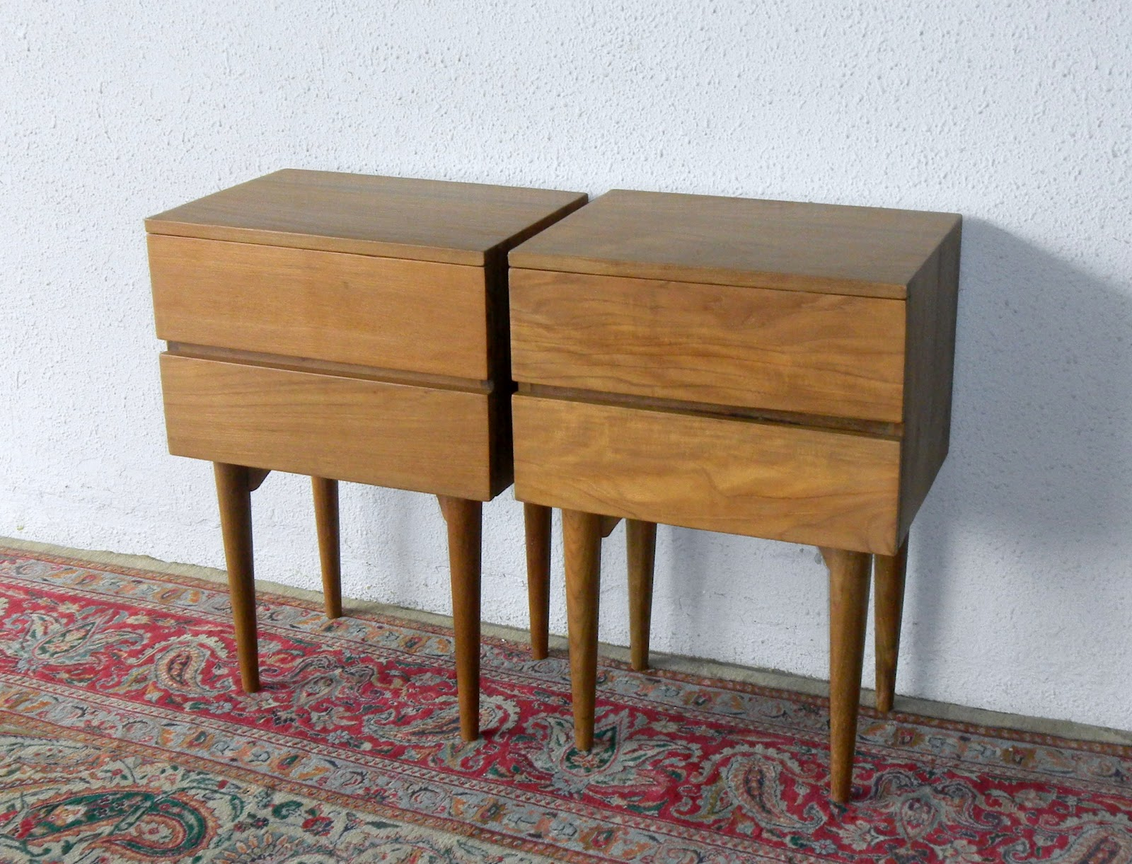 MID CENTURY MODERN BEDSIDE CABINETS - VINTAGE AND FINE REPRODUCTIONS.