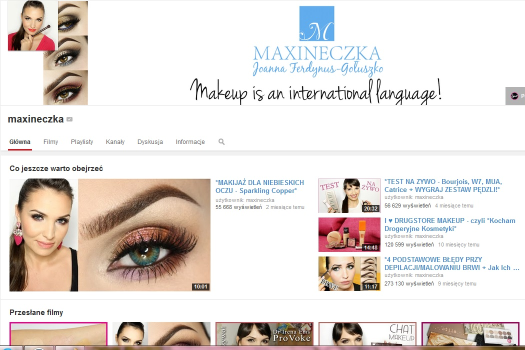 https://www.youtube.com/user/maxineczka