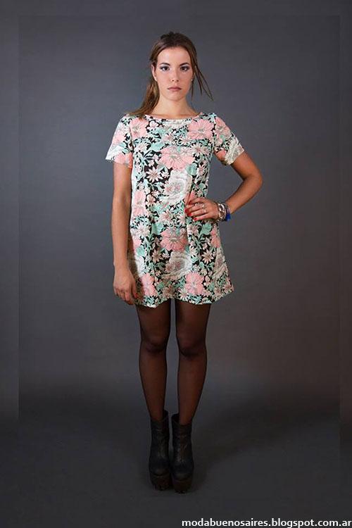 Flor Lazzari otoño invierno 2015 moda mujer tunicas y vestidos.