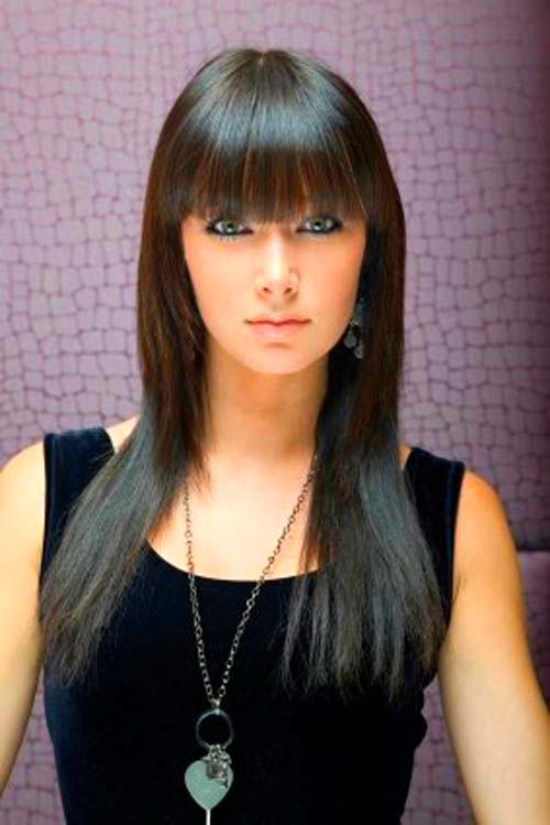 Straight hair style with bangs for you - Hair Style - top ...