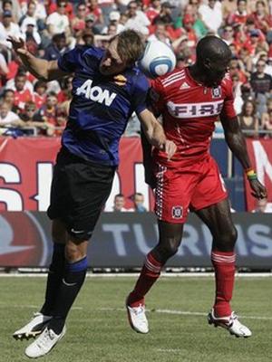 Phil Jones Chicago Fire vs Manchester United