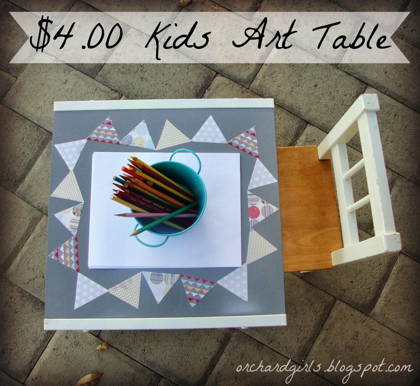 diy kidu0027s art table by