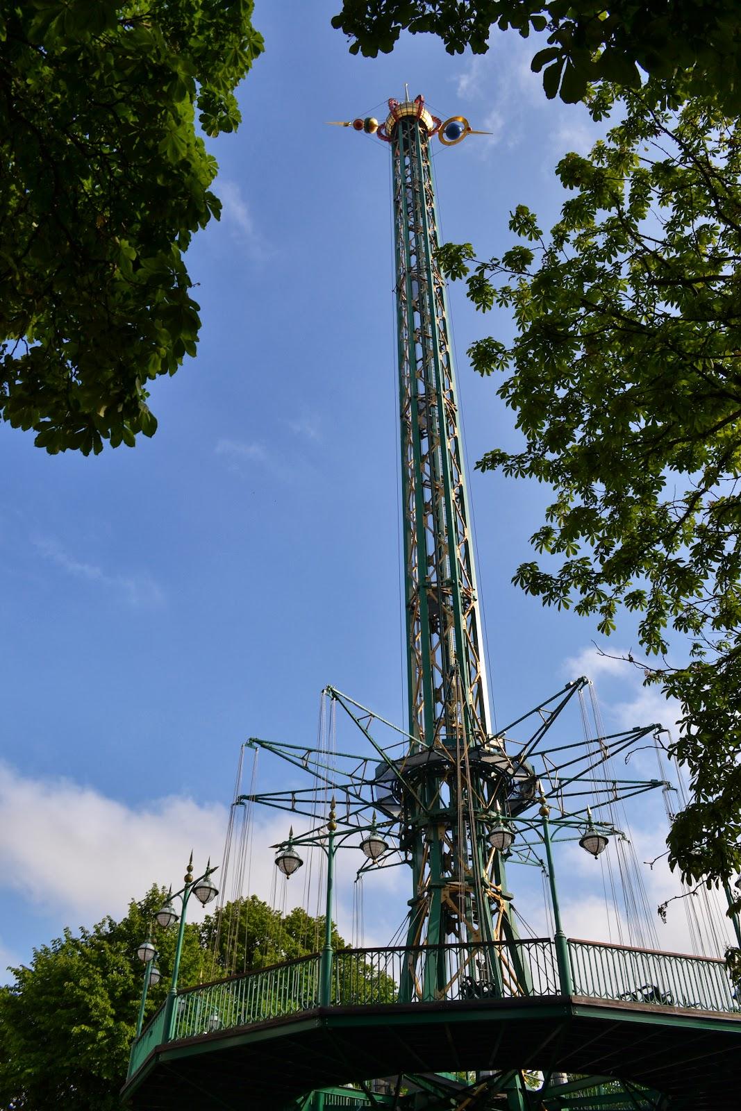 The Dragon - giant swing in trivoli garden copenhagen
