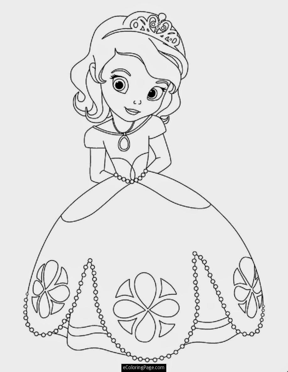 Portrait Dolls: 7 Dibujos de princesas para imprimir y colorear