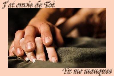 Message d'amour sensuel