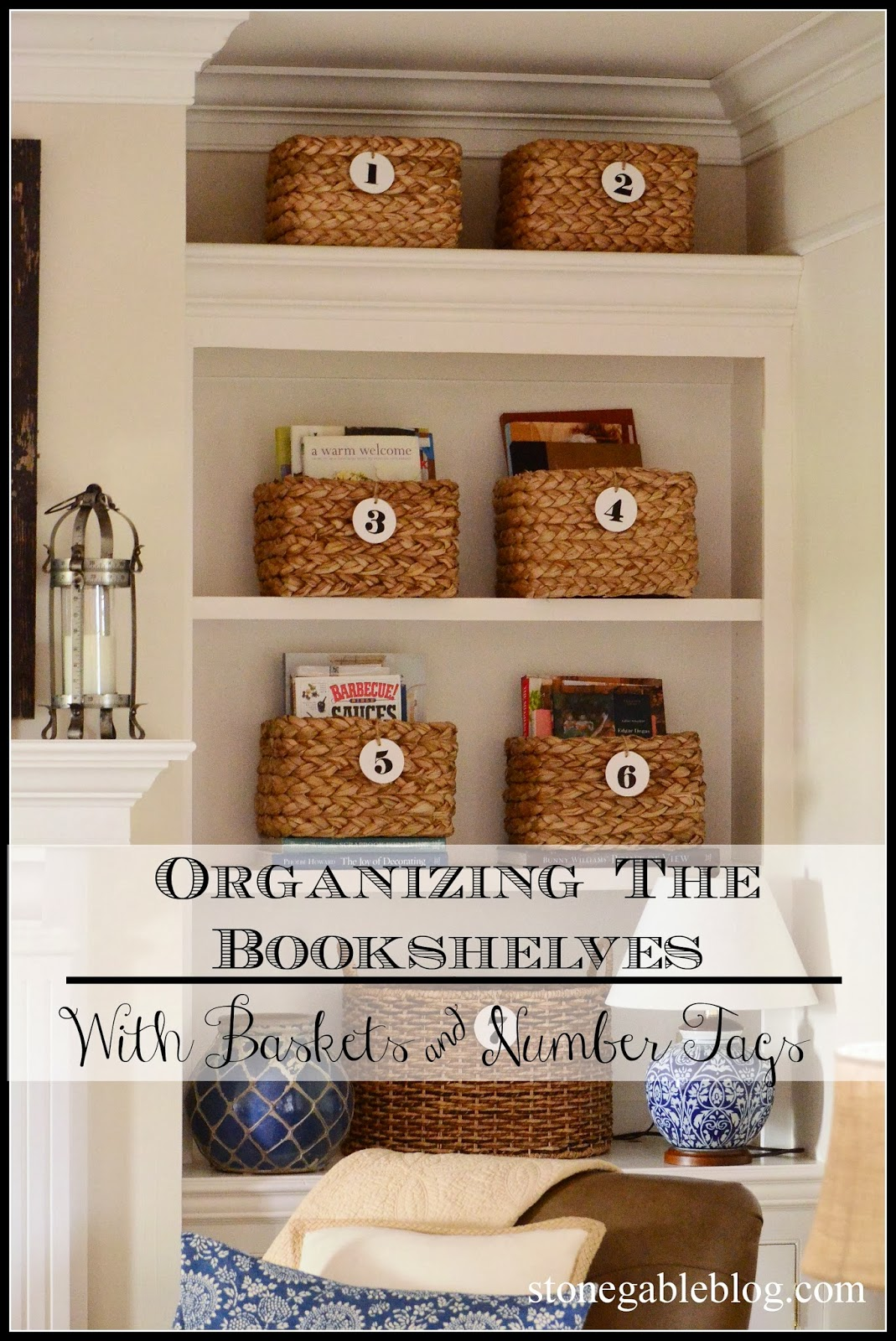 Bookshelves With Baskets Part - 45: ORGANIZING THE BOOKSHELVES