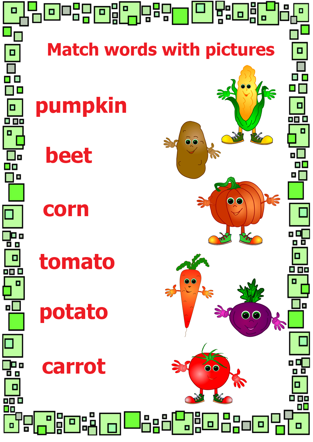 The Garden Song English Vegetable Vocabulary