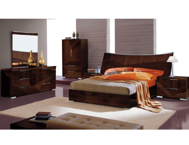 ROSE WOOD FURNITURE: high gloss bedroom furniture