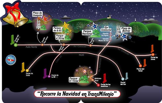 ruta de la Navidad bogota 2011 2012 alumbrado navideño bogota 2011
