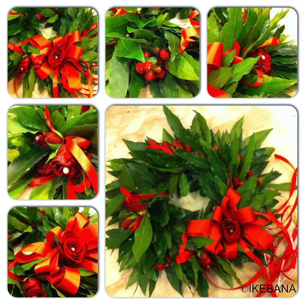 Ikebana Fleurs Corona Di Alloro