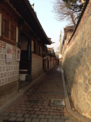 The path from the Blue House to Gyeongbokgung Palace