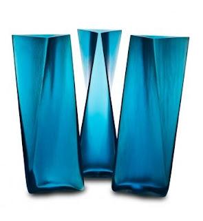 Cristal veneciano para estos jarrones azules