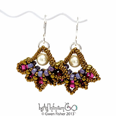 Lotus Drop Beaded Earrings