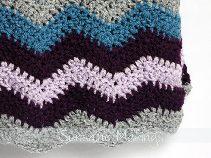 Double Crochet Chevron Baby Blanket Pattern Traitoro For