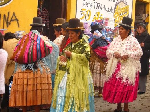 Indigenous Bolivian women