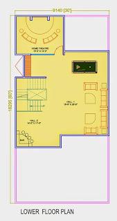 Golf Country, Yamuna Expressway :: Floor Plans,Golf Villa (200 sq. yd.):-Lower Floor Plan Plot Area: 1031.73 Sq. Ft.