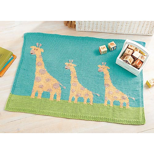 Giraffe Baby Blanket Knitting Pattern : The Knitting Needle and the Damage Done: Baby Blanket Bonanza: A Selection of...