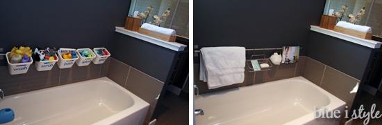 Bath tub toy storage transforms for ugests