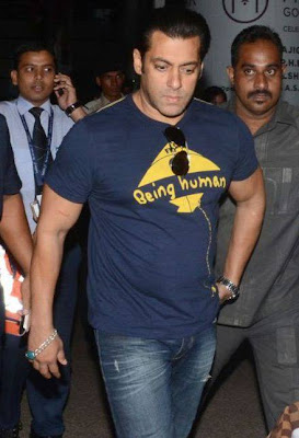 Salman Khan Spotted at Shamshabad Airport for Mental shooting
