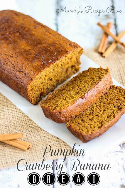 Mandy's Recipe Box: Pumpkin Cranberry Banana Bread