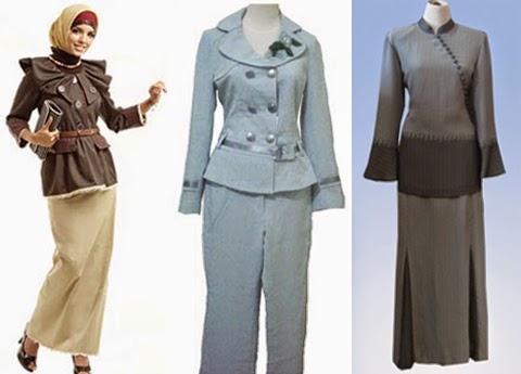 model baju kantor muslimah