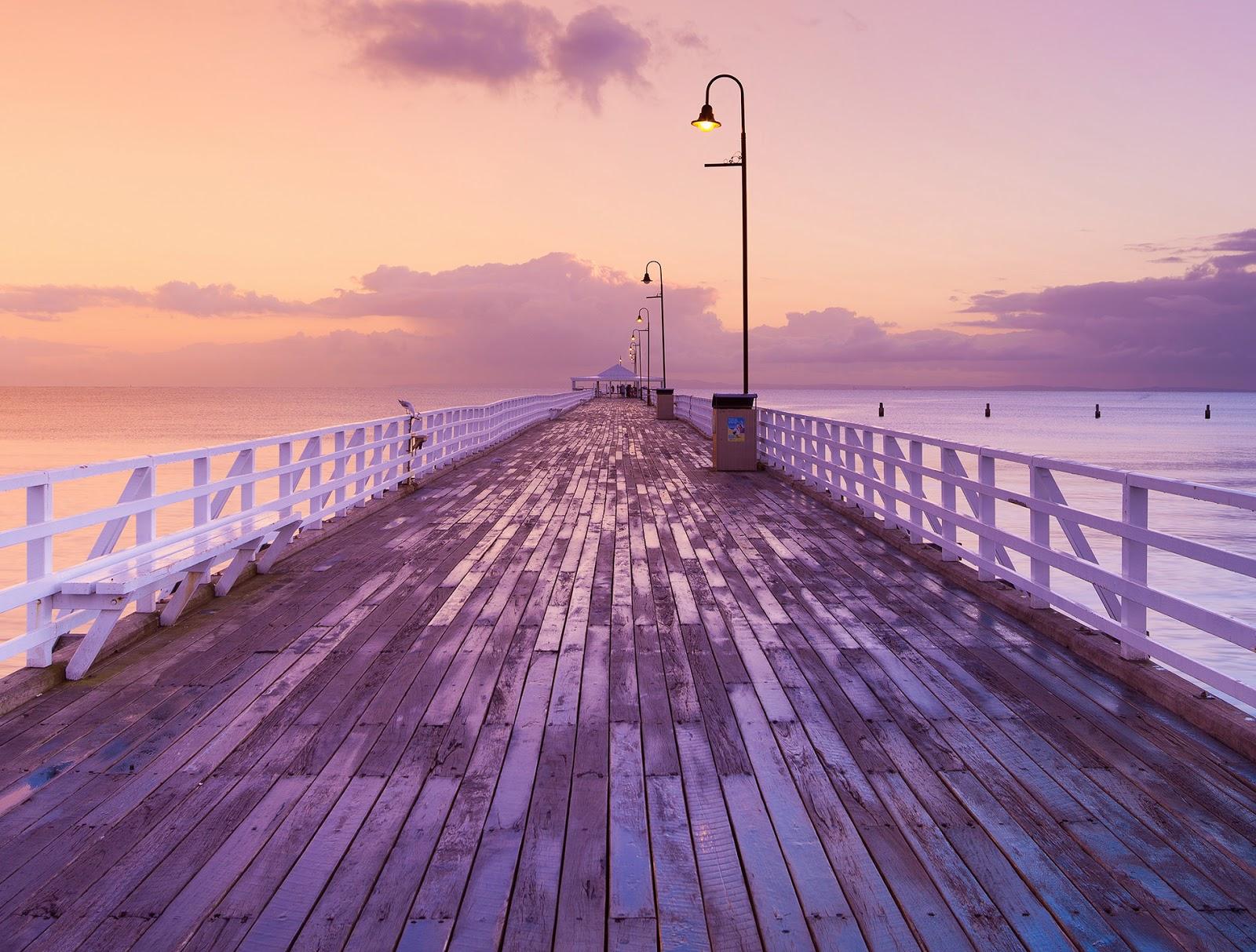 خلفية الأسبوع منظر طبيعي مع الغروب على شاطئ البحر #1