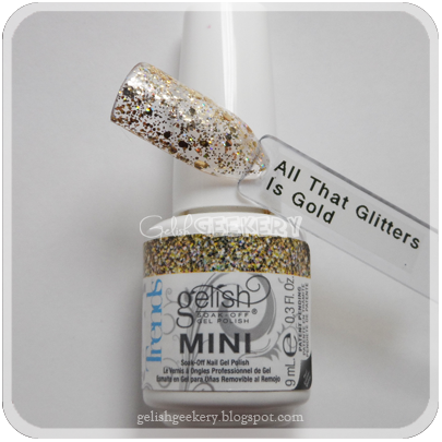 Gelish Trends Swatch: All That Glitters Is Gold