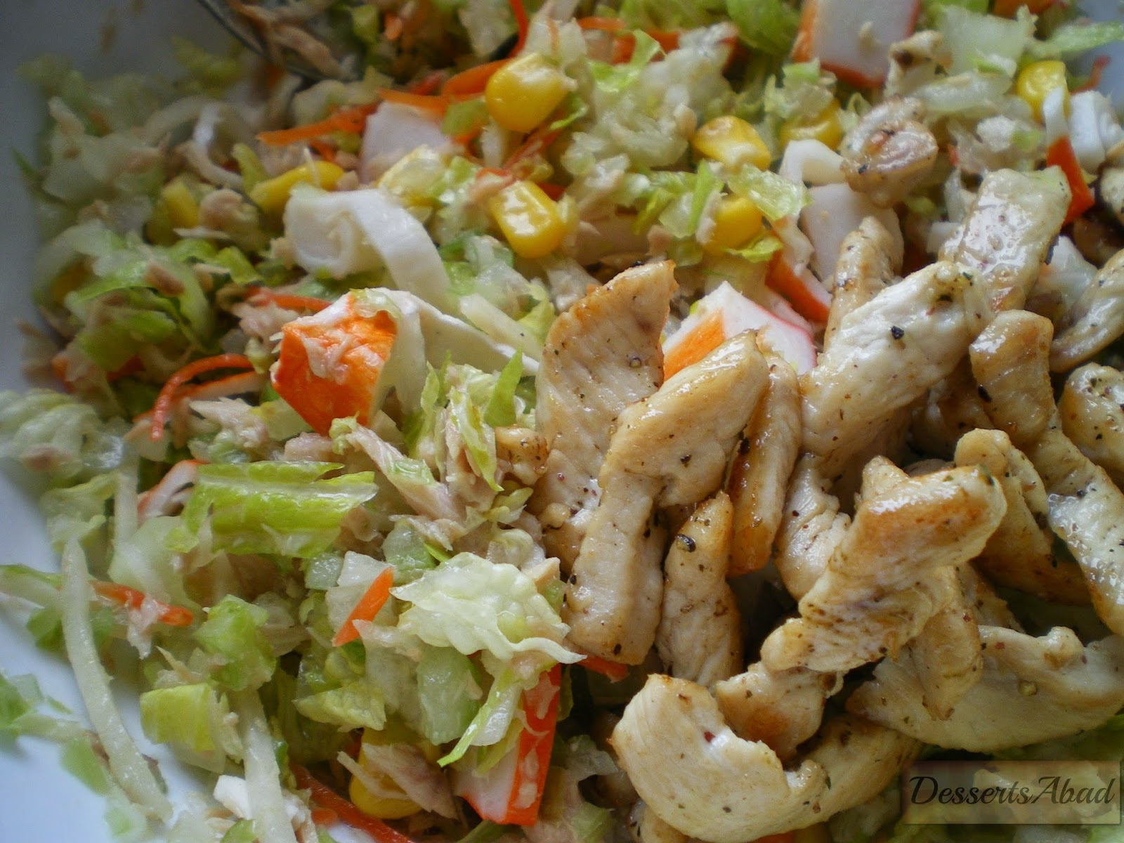 Pastel de ensalada tropical (Relleno)