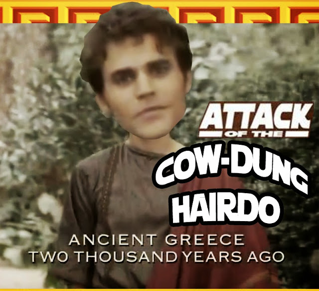 Vampire Diaries Season 5 Meme: Silas - Attack of the Cow Dung Hairdo