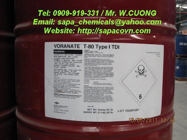 Toluene diisocyanate - TDI - Voranate T80